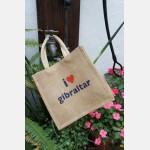 I love Gibraltar Jute Bag